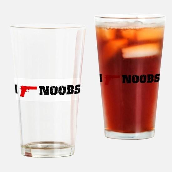 ishootnoobs.jpg Drinking Glass