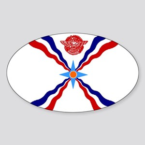 Flag of Assyria Oval Sticker