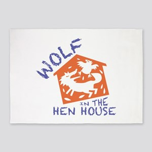 Wolf In The Hen House 5'x7'Area Rug