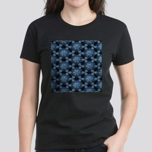 Relief Pattern blue T-Shirt