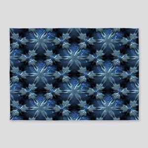 Relief Pattern blue 5'x7'Area Rug
