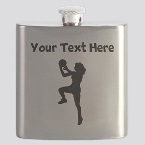 Womens Basketball Player Flask