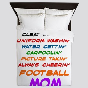 I'M A FOOTBALL MOM... Queen Duvet