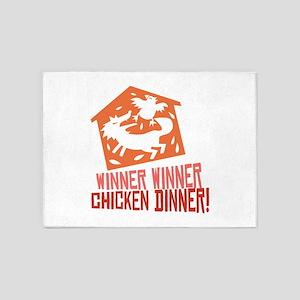 Chicken Dinner 5'x7'Area Rug