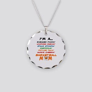 I'M A BASKETBALL MOM Necklace Circle Charm