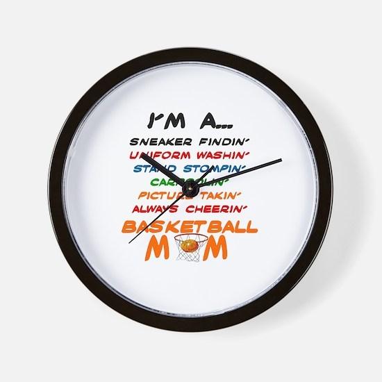 I'M A BASKETBALL MOM Wall Clock