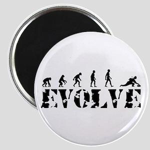 Curling Caveman Magnet