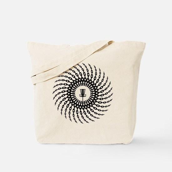 Disc Golf Basket Chains Tote Bag