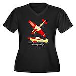 Loving WR-1 Women's Plus Size V-Neck Dark T-Shirt
