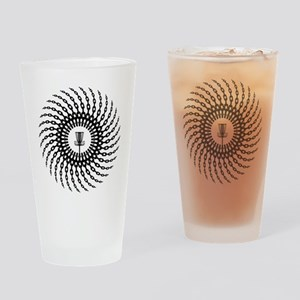 Disc Golf Basket Chains Drinking Glass