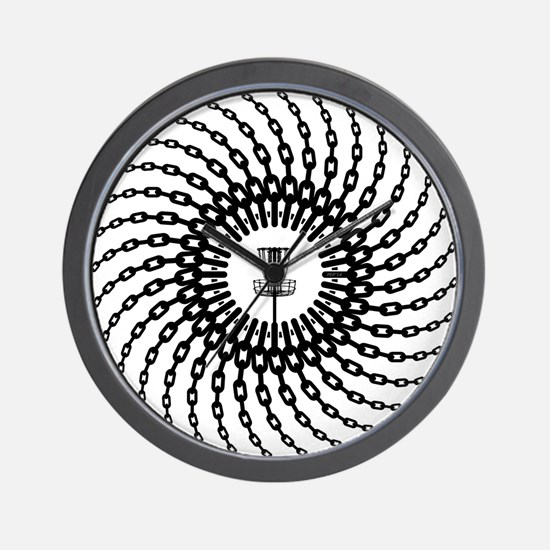 Disc Golf Basket Chains Wall Clock