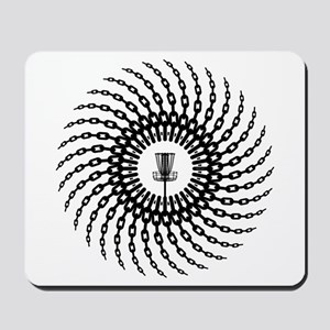Disc Golf Basket Chains Mousepad