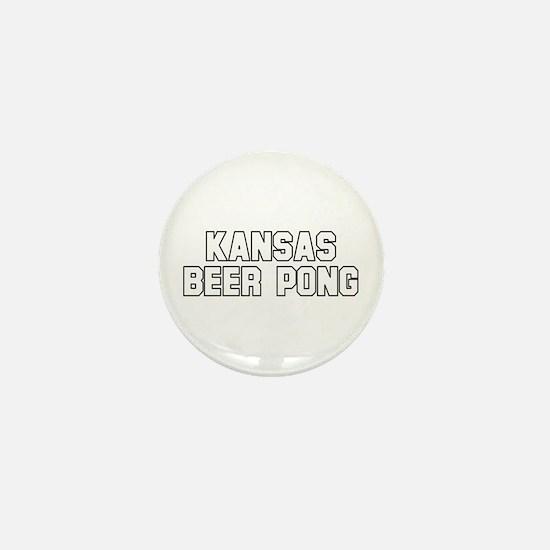 Kansas Beer Pong Mini Button