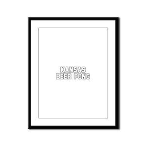 Kansas Beer Pong Framed Panel Print
