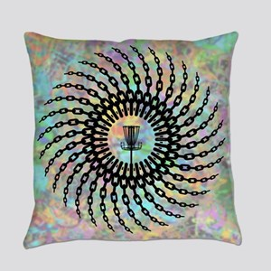 Disc Golf Basket Chains Everyday Pillow