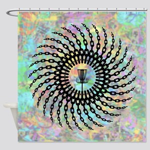 Disc Golf Basket Chains Shower Curtain