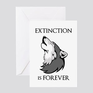 Wolf Extinction Greeting Cards