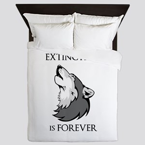 Wolf Extinction Queen Duvet