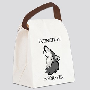 Wolf Extinction Canvas Lunch Bag