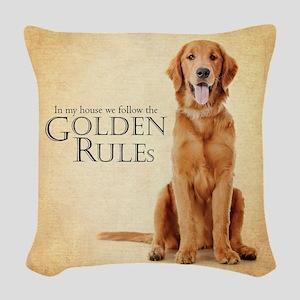 The Golden Rules Woven Throw Pillow