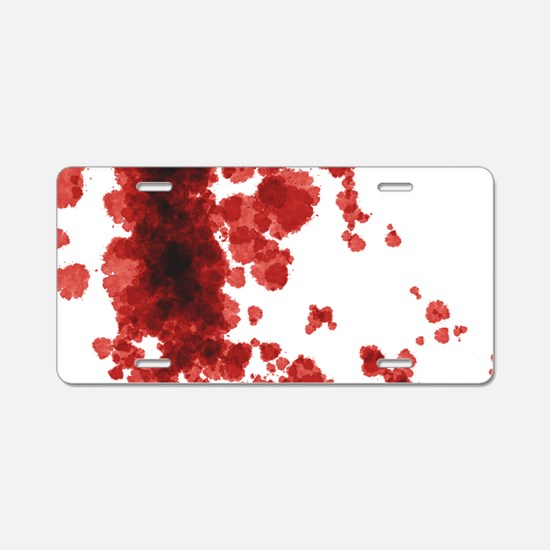 Bloody Mess Aluminum License Plate