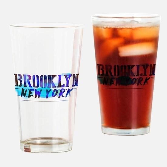 Brooklyn, Ny! Beer Drinking Glass