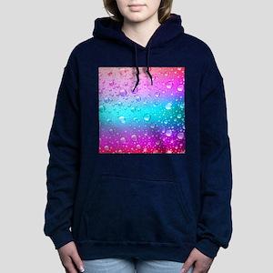 Hot Pink And Aqua Blue G Women's Hooded Sweatshirt