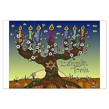 Tree Of Life Lshanah Tovah Posters