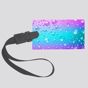 Hot Pink And Aqua Blue Gradient Large Luggage Tag