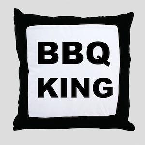 BBQ King Throw Pillow