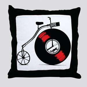 Record Bike Throw Pillow
