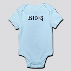 King text label saying Body Suit