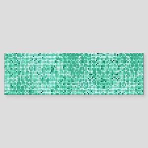 Mint Green Glitter Print Bumper Sticker