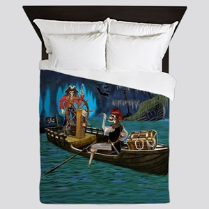 Skeleton Pirates Cave Queen Duvet