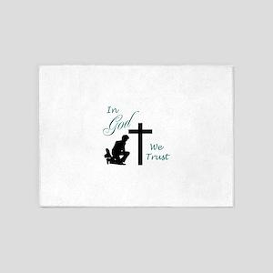 IN GOD WE TRUST 5'x7'Area Rug