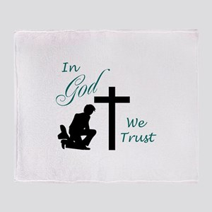 IN GOD WE TRUST Throw Blanket