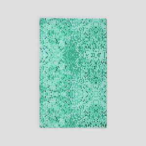 Mint Green Glitter Print Area Rug