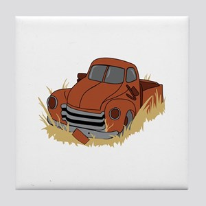 RUSTY TRUCK Tile Coaster