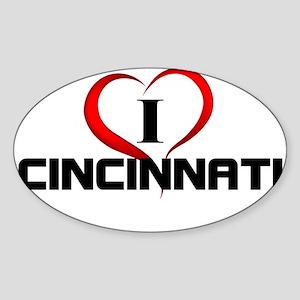 I <3 Cincinnati Fun Gear Sticker