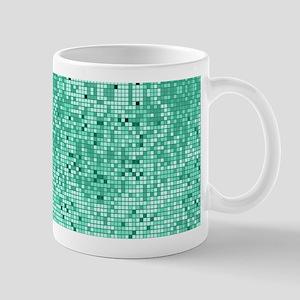 Mint Green Glitter Print Mugs