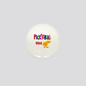 Funny Pickleball Chick Mini Button