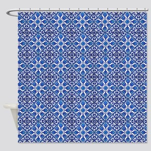 Bohemian Blue Shower Curtain