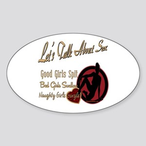 Let's Talk About Sex Series Oval Sticker
