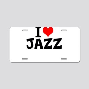 I Love Jazz Aluminum License Plate