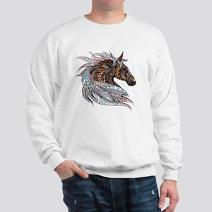 Warm colors horse drawing Sweatshirt