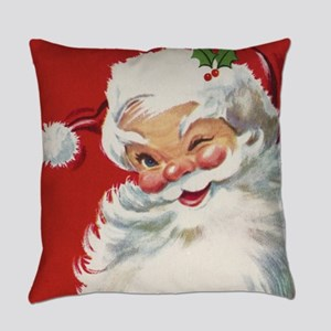 Vintage Christmas Jolly Santa Clau Everyday Pillow