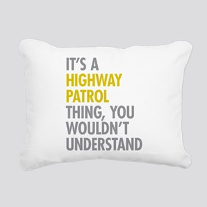 Highway Patrol Thing Rectangular Canvas Pillow