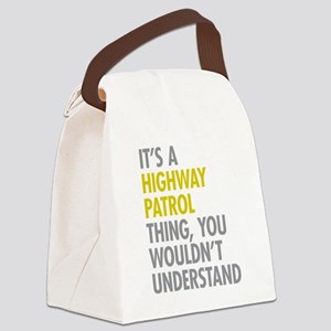 Highway Patrol Thing Canvas Lunch Bag