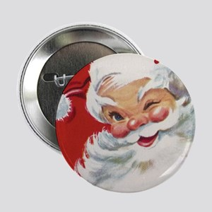 """Vintage Christmas Jolly San 2.25"""" Button (10 pack)"""