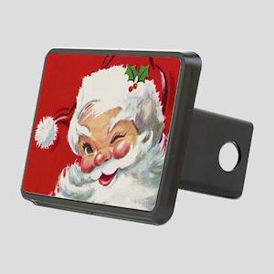 Vintage Christmas Jolly Sa Rectangular Hitch Cover